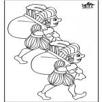 Pricking cards - Piet kleurplaat 2