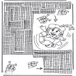 Pricking cards - Pieten doolhof 2
