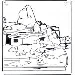 Dyr - Polar bear and sea lion