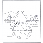 Dyr - Polar bear on a barrel