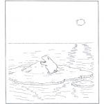 Dyr - Polar bear on ice