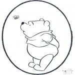 Pricking cards - Pooh prickingcard 3