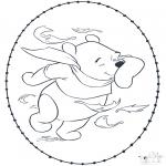 Broderkort - Pooh stitchingcard 1