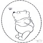 Broderkort - Pooh stitchingcard 2