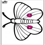Dyr - Pricking card butterfly