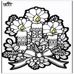 Jul - Pricking card candles