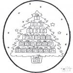 Pricking cards - Pricking card - Christmas calendar