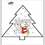 Jul - Pricking card snowman 2