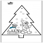 Jul - Pricking card snowman 3