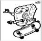 Pricking card SpongeBob