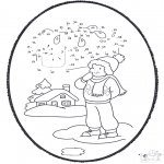 Pricking cards - Pricking card - winter 1