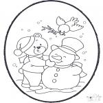Pricking cards - Pricking card - winter 2