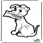 Pricking cards - Prickingcard 101 dogs 4
