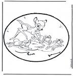 Pricking cards - Prickingcard bambi 1