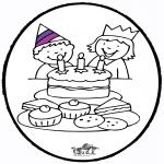 Pricking cards - Prickingcard birthday