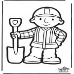 Pricking cards - Prickingcard Bob the Builder 2