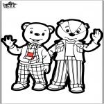 Pricking cards - Prickingcard - Brownie bear