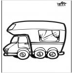 Pricking cards - Prickingcard camper