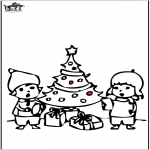 Jul - Prickingcard Christmas tree 4