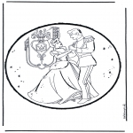 Pricking cards - Prickingcard Cinderella 1