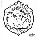 Pricking cards - Prickingcard Disney Princesses 1