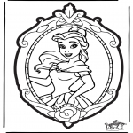 Pricking cards - Prickingcard Disney Princesses 2