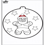 Jul - Prickingcard Gingerbread man 2