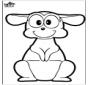 Prickingcard Kangaroo