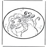 Pricking cards - Prickingcard Lion King
