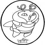Pricking cards - Prickingcard Pokemon 1