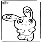 Pricking cards - Prickingcard Pokemon 5