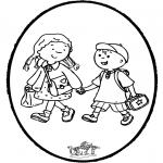 Pricking cards - Prickingcard to school