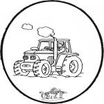 Pricking cards - Prickingcard tractor