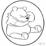 Pricking cards - Prickingcard Winnie 1