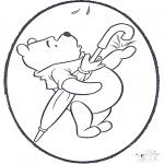 Pricking cards - Prickingcard Winnie 2