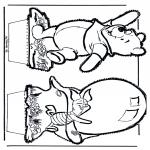 Pricking cards - Prickingcard Winnie 5
