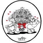 Pricking cards - Prikkaart Valentijn