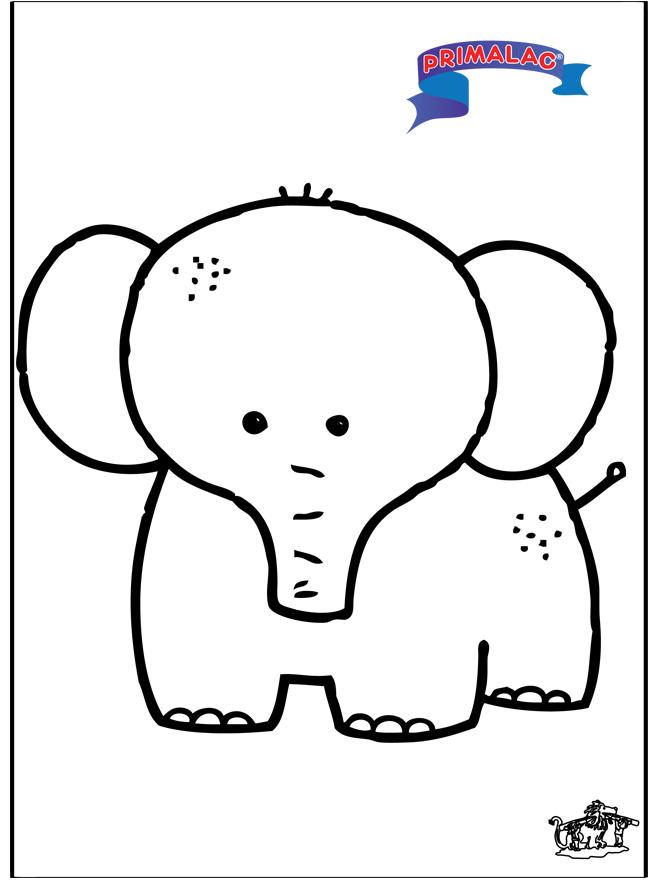 Primalac elephant - Fargeleggingstegning dyr