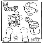 Kreativitet - Pull-puppet Bob the Builder 1