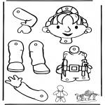 Kreativitet - Pull-puppet Bob the Builder