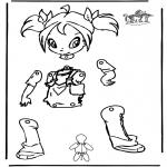 Kreativitet - Pull-puppet Winx