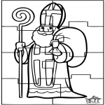 Pricking cards - Puzzel Sint 2