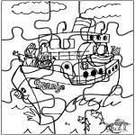 Pricking cards - Puzzel Sint 3