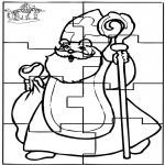 Pricking cards - Puzzel Sint