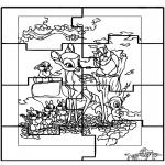 Kreativitet - Puzzle Bambi