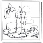 Kreativitet - Puzzle candles