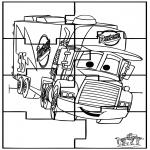 Kreativitet - Puzzle Cars