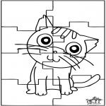 Kreativitet - Puzzle cat