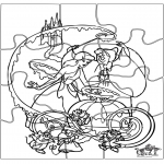 Kreativitet - Puzzle Cinderella