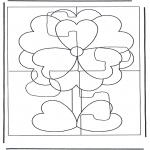 Kreativitet - Puzzle flower